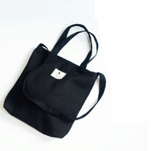Black 100% Cotton Shopping Bag