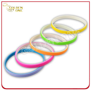 1/4 Inch Blank Assorted Color Silicone Bracelet for Promotion Gift pictures & photos