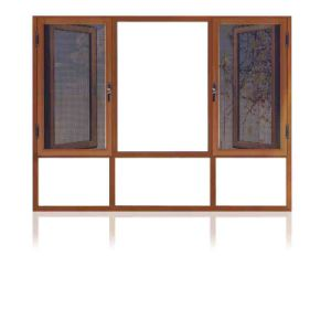 Feelingtop Most Popular Wood Aluminum Anti-Theft Window pictures & photos