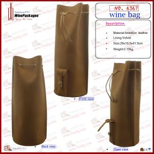 Handsome Single Bottle Wine Bag (6367) pictures & photos