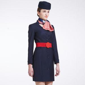 Airline Women Uniform, Airline Uniform Design Women Long Sleeve Airline Uniform pictures & photos
