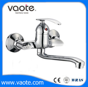 Brass Body Single Handle Wall Kitchen Faucet (VT10602) pictures & photos