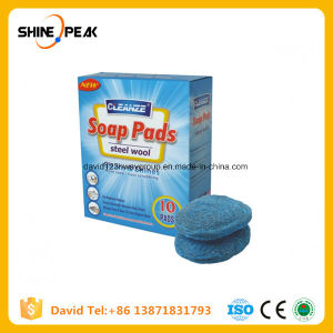 Steel Wool Soap Pads Blue and Oval Soap Pads pictures & photos