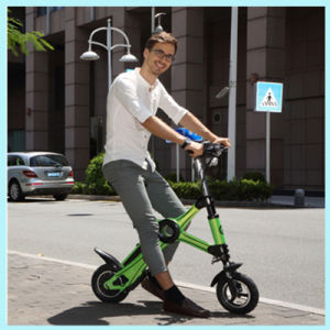 Lithium Battery 36V 250W Chainless Folding Electric Bicycle with LCD Display pictures & photos