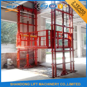 Hydraulic Guide Rail Lift Platform pictures & photos