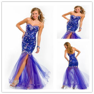 Sweetheart Lace and Tulle Beaded Long Homecoming Dresses (XYN-244)