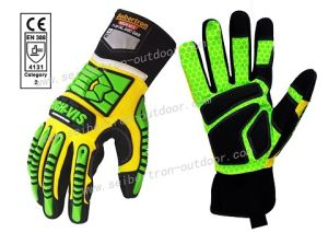 Ce 4131 Seibertron High-Vis Sdxg2 Touchscreen Dexterity Super Grip Gel Impact Protection Safety Gloves