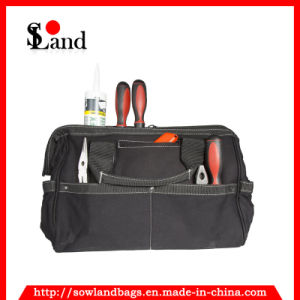 Sowland Practical Electrical Canvas Black Color 16-Inch Work Tool Bag for Plumber pictures & photos