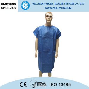 Disposable Dark Blue Nonwoven Surgical Gown/SMS Nonwoven Hospital Surgical Gown pictures & photos