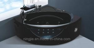 Luxury Black Color Modern Freestabding Massage Bathtub Nj-3008 pictures & photos