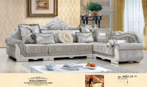 Silver Color Sofa, New Classic Sofa, Fabric Sofa (862) pictures & photos