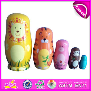 2014 Colorful Wooden Russia Nest Dolls for Kids, Cute Russia Nest Doll for Children, Russia Matryoshka Nest Doll for Baby Factory W06D039 pictures & photos