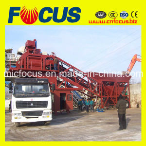 Building Equipment Yhzs75 Mobile Concrete Batching Plant, Concrete Mixing Plant pictures & photos