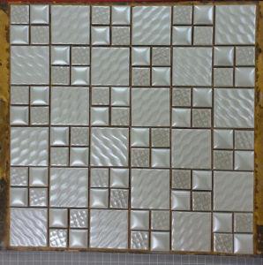 Porcelain Ceramic Mixed Square Glass Tile pictures & photos