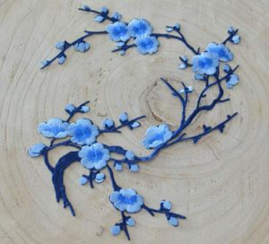 Blue Color Plun Blossom Garment Accessories Embroidery Flower pictures & photos