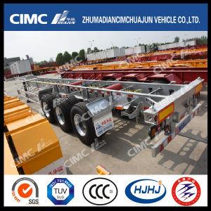 48FT Cimc Huajun Aluminium-Steel Light-Duty Skeleton Container Trailer pictures & photos
