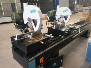Two Head Cutting Saw for PVC and Aluminum Window and Door Profile pictures & photos
