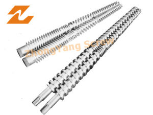 Twin Conical Screw Barrel PVC Extrusion Screw Barrel Double Screw Barrel pictures & photos