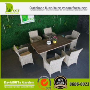 Outdoor Furniture Garden Set Poly Rattan Dining Table Chair Set pictures & photos