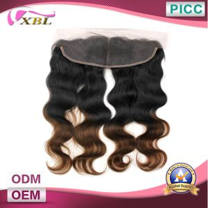 Virgin Ombre Hair Extension Lace Closure pictures & photos