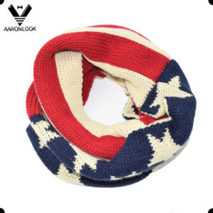 USA Star Flag Acrylic Knitted Winter American Style Scarf for Children pictures & photos