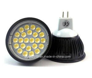 Aluminum DC12V 5W MR16 24 5050 SMD LED Lamp pictures & photos