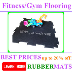 Shock Absorption Noise Reducing Fitness Rubber Flooring Tile pictures & photos