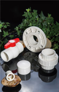 Huasheng Plastic Dn32 Dn40 Dn50 Dn65 CPVC DIN Standard Straight Coupling pictures & photos
