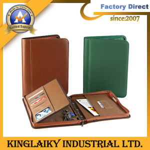 High-End PU Business Manager Folder with Customized Logo (MF-06) pictures & photos
