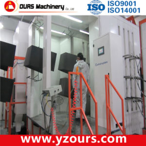 Small Cyclone Powder Recovery Electrostatic Powder Coating Booth pictures & photos