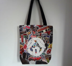 Customize Organic Canvas Fabric Waterproof Tote Canvas Shopping Bag pictures & photos