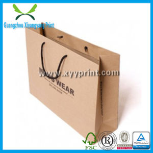 Custom Size Kraft Shopping Paper Bags with Logo Print pictures & photos