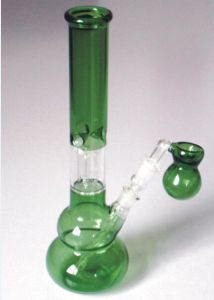 Colorful Glass Water Pipes with Green Pink Purple Smoking Pipes pictures & photos