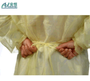 Spunbonded Polypropylene Disposable Isolation Gowns Surgical Use pictures & photos