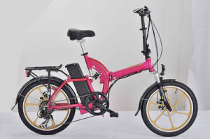 Magnesium Aluminum Cheap Folding Electric Bicycle with En15194 pictures & photos