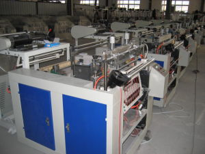 One-Line Hot Sealing and Hot Cutting Bag Making Machine pictures & photos