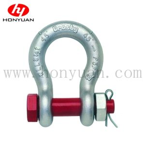 G2130 Bolt Type Safety Chain Shackle U. S. Type, Drop Forged Zinc Plated or Hot Galvanized Shackle