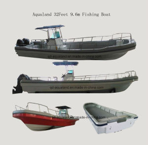 China Aqualand 32feet 9.6m Fiberglass Panga Boat/Fishing Boat (320) pictures & photos