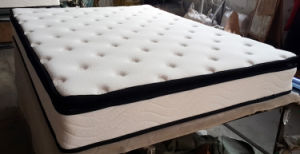 American 10 Inch Queen Size Bonnell Spring Mattrees Soft Foam Pillow Top pictures & photos
