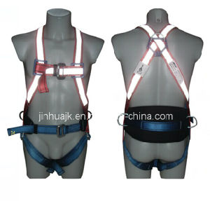 Reflective Tape Full Body Safety Harness (JE134059C) pictures & photos