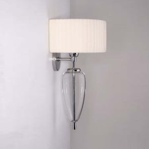 Steel Glass with Fabric Lampshade Wall Lamp (MB2174) pictures & photos