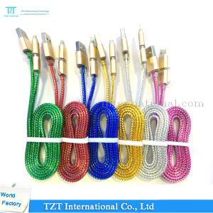 High Quality Mobile Phone Micro USB Cable for Samsung/iPhone (Type-2A1) pictures & photos