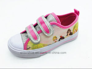 Bling Bling Vulcanized Fashion Children′s Shoes with Stones (ET-LH160293K) pictures & photos
