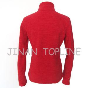 Women Figure Flattering Elastic Spandex Fleece Fabric Jacket pictures & photos