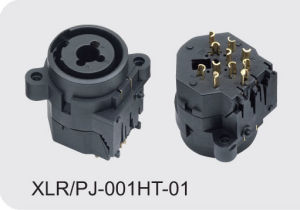XLR Cannon Combo Connector/Socket (XLR/PJ-001HT-01) pictures & photos
