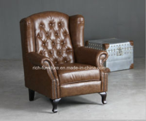 Chesterfield Queen Anne Wingback Arm Chair for Living Room (RF-5005) pictures & photos