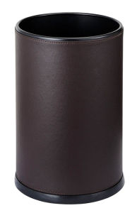 Hotel Elegant Single Layer Leather Recycling Trash Can for Sales pictures & photos