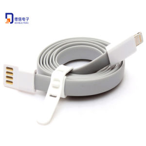 Popular 1m Flat Micro USB Cable for Smartphones pictures & photos