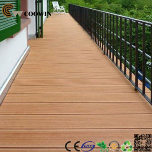 Outdoor WPC Solid Synthetic Teak Decking pictures & photos