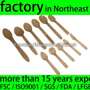 Mini Ice Cream Spoon Wood Disposable (wdc-100 spoon) pictures & photos